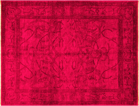 "A03352, 8' 1"" X 10' 3"",Over Dyed  ,8x10,PINK,PINK,Hand Knotted                  ,Pakistan   ,100% Wool  ,Rectangle"