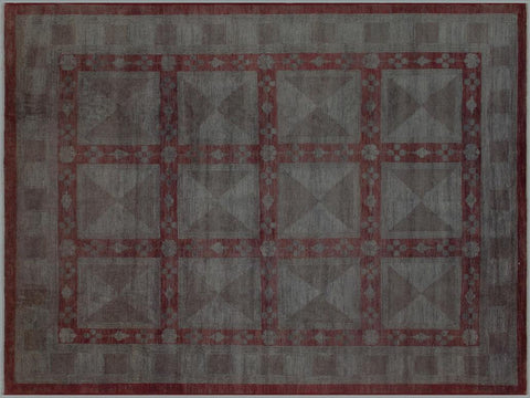 "A03357, 7' 9"" X  9'11"",Over Dyed                     ,8' x 10',Silver,LT. GRAY,Hand-knotted                  ,Pakistan   ,100% Wool  ,Rectangle  ,652671153976"