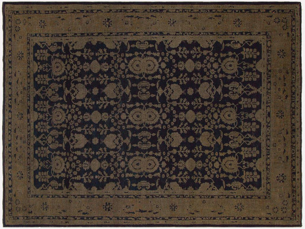 "A03390, 8' 5"" X 11'11"",Vintage                       ,9' x 12',Navy,CHARCOAL,Hand-knotted                  ,Pakistan   ,100% Wool  ,Rectangle  ,652671154300"