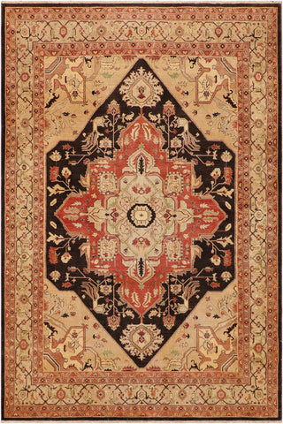 "A03608, 9' 2"" X 12' 4"",Geometric  ,9' x 12',Brown,LT. TAN,Hand-knotted                  ,Pakistan   ,100% Wool  ,Rectangle  ,652671155376"