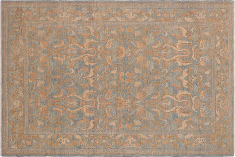 "A03611, 9' 0"" X 11'10"",Transitional                  ,9' x 12',Blue,BEIGE,Hand-knotted                  ,Pakistan   ,100% Wool  ,Rectangle  ,652671155406"