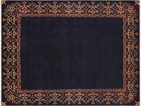 "A03616, 9' 3"" X 12' 4"",Modern                        ,9' x 12',Blue,RED,Hand-knotted                  ,Pakistan   ,100% Wool  ,Rectangle  ,652671155437"