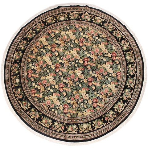 "A03664,12' 1"" X 12' 4"",Traditional                   ,12' x 12',Black,RED,Hand-knotted                  ,Pakistan   ,100% Wool  ,Round      ,652671155895"