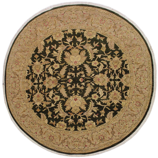 "A03669, 8'10"" X  9' 2"",Traditional                   ,9' x 9',Green,LT. TAN,Hand-knotted                  ,Pakistan   ,100% Wool  ,Round      ,652671155932"