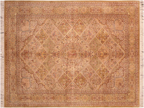 "A03723, 6' 3"" X  9' 4"",Traditional                   ,6' x 9',Tan,LT. GREEN,Hand-knotted                  ,Pakistan   ,100% Wool  ,Rectangle  ,652671156465"