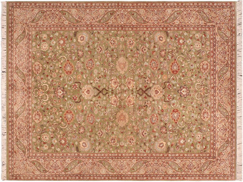 "A03732, 5'11"" X  9' 3"",Traditional                   ,6' x 9',Green,TAN,Hand-knotted                  ,Pakistan   ,100% Wool  ,Rectangle  ,652671156557"