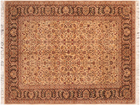 "A03734, 6' 2"" X  9' 6"",Traditional                   ,6' x 10',Tan,BROWN,Hand-knotted                  ,Pakistan   ,100% Wool  ,Rectangle  ,652671156571"
