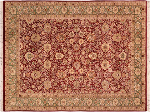 "A03739, 6' 1"" X  9' 0"",Traditional                   ,6' x 9',Red,GREEN,Hand-knotted                  ,Pakistan   ,100% Wool  ,Rectangle  ,652671156625"