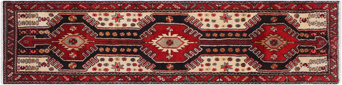 "A03779, 2'11"" X 10'11"",Geometric                     ,3' x 11',Red,BLUE,Hand-knotted                  ,Iran       ,100% Wool  ,Runner     ,652671156991"