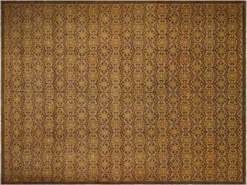 "A03888,13' 9"" X 16' 2"",Modern     ,14' X 16',Brown,BROWN,Hand-knotted                  ,Pakistan   ,100% Wool  ,Rectangle  ,652671158087"