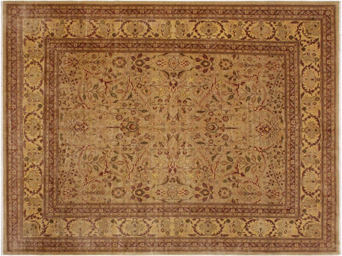 "A03905, 8' 7"" X 11'10"",Traditional                   ,9' x 12',Gold,LT. BROWN,Hand-knotted                  ,Pakistan   ,100% Wool  ,Rectangle  ,652671158254"