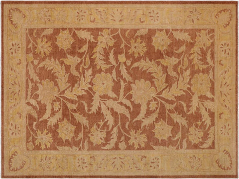 handmade Traditional Kafkaz Brown Beige Hand Knotted RECTANGLE 100% WOOL area rug 9 x 12
