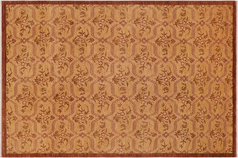 "A03979, 9' 0"" X 12' 4"",Modern     ,9' x 12',Gold,BROWN,Hand-knotted                  ,Pakistan   ,100% Wool  ,Rectangle  ,652671158995"