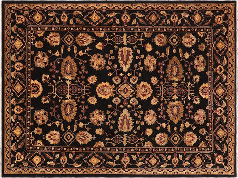 "A03998, 8' 3"" X 11' 3"",Traditional,9' x 12',Black,GOLD,Hand-knotted                  ,Pakistan   ,100% Wool  ,Rectangle  ,652671159183"