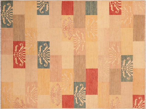 "A04034, 6' 0"" X  8' 8"",Modern                        ,6' x 9',Tan,LT. BROWN,Hand-knotted                  ,Pakistan   ,100% Wool  ,Rectangle  ,652671159541"