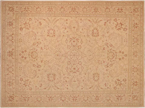 handmade Traditional Kafkaz Beige Brown Hand Knotted RECTANGLE 100% WOOL area rug 10 x 13