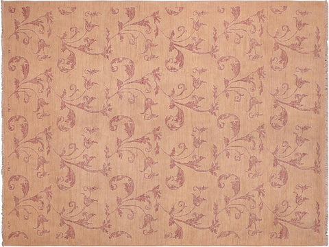 "A04108, 6' 2"" X  8'11"",Modern     ,6' x 9',Tan,ROSE,Hand-knotted                  ,Pakistan   ,100% Wool  ,Rectangle  ,652671160288"