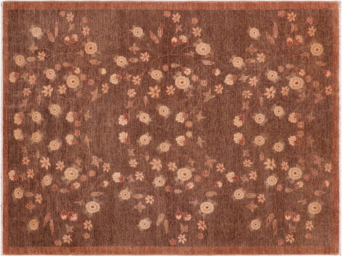 "A04112, 6' 3"" X  8' 9"",Modern                        ,6' x 9',Brown,BROWN,Hand-knotted                  ,Pakistan   ,100% Wool  ,Rectangle  ,652671160325"