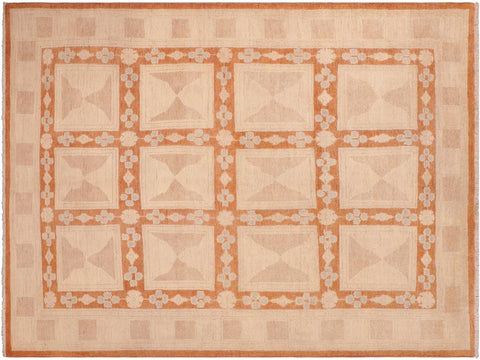 "A04119, 5'10"" X  8'10"",Modern     ,6' x 9',Rust,TAN,Hand-knotted                  ,Pakistan   ,100% Wool  ,Rectangle  ,652671160394"