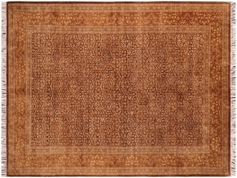 "A04122, 6' 1"" X  9' 6"",Traditional                   ,6' x 9',Brown,GOLD,Hand-knotted                  ,Pakistan   ,100% Wool  ,Rectangle  ,652671160424"