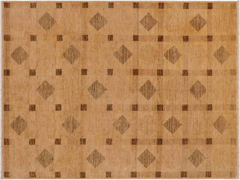 handmade Modern Gabbeh Tan Brown Hand Knotted RECTANGLE 100% WOOL area rug 9 x 12