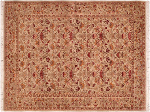 "A04188, 6' 2"" X  9' 1"",Traditional                   ,6' x 9',Green,RUST,Hand-knotted                  ,Pakistan   ,100% Wool  ,Rectangle  ,652671161087"