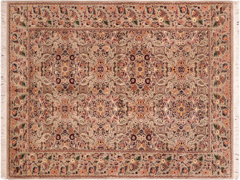 "A04191, 6' 1"" X  8'11"",Traditional                   ,6' x 9',Grey,GREEN,Hand-knotted                  ,Pakistan   ,100% Wool  ,Rectangle  ,652671161117"