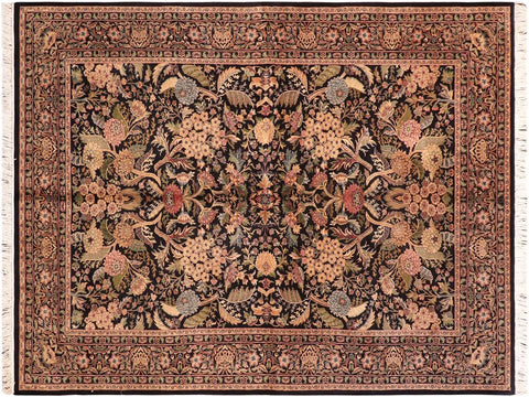 "A04194, 5'11"" X  9' 1"",Traditional                   ,6' x 9',Black,GREEN,Hand-knotted                  ,Pakistan   ,100% Wool  ,Rectangle  ,652671161148"