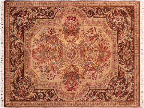 "A04199, 6' 1"" X  9' 1"",Traditional                   ,6' x 9',Tan,BROWN,Hand-knotted                  ,Pakistan   ,100% Wool  ,Rectangle  ,652671161193"