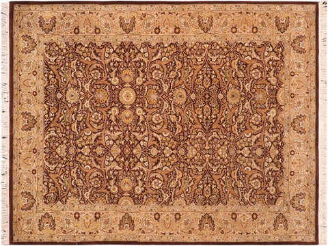 "A04204, 6' 2"" X  9' 3"",Traditional                   ,6' x 9',Brown,TAN,Hand-knotted                  ,Pakistan   ,100% Wool  ,Rectangle  ,652671161247"