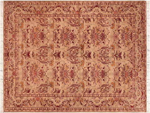 "A04209, 6' 1"" X  9' 4"",Traditional                   ,6' x 9',Green,RED,Hand-knotted                  ,Pakistan   ,100% Wool  ,Rectangle  ,652671161292"