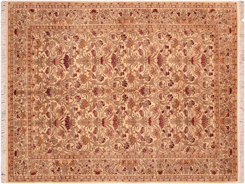 "A04211, 6' 1"" X  9'10"",Traditional                   ,6' x 9',Tan,GRAY,Hand-knotted                  ,Pakistan   ,100% Wool  ,Rectangle  ,652671161315"