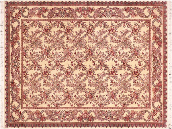 "A04212, 6' 0"" X  9' 3"",Traditional                   ,6' x 9',Natural,RED,Hand-knotted                  ,Pakistan   ,100% Wool  ,Rectangle  ,652671161322"
