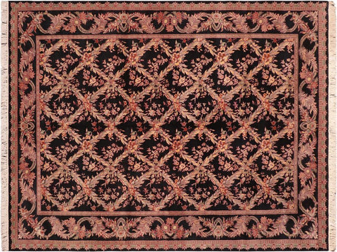 "A04214, 6' 1"" X  9' 3"",Traditional                   ,6' x 9',Black,RUST,Hand-knotted                  ,Pakistan   ,100% Wool  ,Rectangle  ,652671161346"