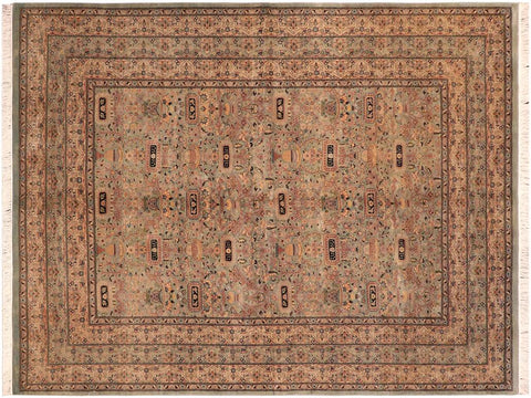"A04240, 6' 3"" X  9' 6"",Traditional                   ,6' x 10',Green,LT. TAN,Hand-knotted                  ,Pakistan   ,100% Wool  ,Rectangle  ,652671161605"