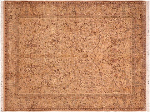 "A04246, 6' 1"" X  9'10"",Traditional                   ,6' x 9',Tan,BROWN,Hand-knotted                  ,Pakistan   ,100% Wool  ,Rectangle  ,652671161667"