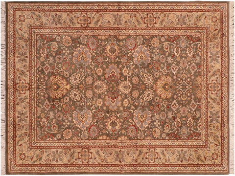"A04247, 6' 1"" X  8'10"",Traditional                   ,6' x 9',Green,TAN,Hand-knotted                  ,Pakistan   ,100% Wool  ,Rectangle  ,652671161674"