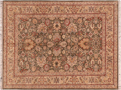 "A04248, 6' 0"" X  8' 9"",Traditional                   ,6' x 9',Green,LT. TAN,Hand-knotted                  ,Pakistan   ,100% Wool  ,Rectangle  ,652671161681"