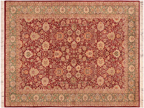 "A04250, 6' 2"" X  8'11"",Traditional                   ,6' x 9',Red,GREEN,Hand-knotted                  ,Pakistan   ,100% Wool  ,Rectangle  ,652671161704"