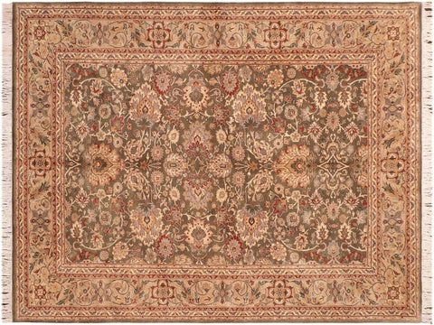 "A04251, 6' 0"" X  8' 9"",Traditional                   ,6' x 9',Green,TAN,Hand-knotted                  ,Pakistan   ,100% Wool  ,Rectangle  ,652671161711"