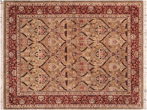 "A04255, 6' 1"" X  9' 0"",Traditional                   ,6' x 9',Green,RED,Hand-knotted                  ,Pakistan   ,100% Wool  ,Rectangle  ,652671161759"