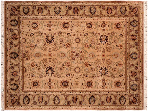 "A04256, 6' 2"" X  8'11"",Traditional                   ,6' x 9',Tan,LT. GREEN,Hand-knotted                  ,Pakistan   ,100% Wool  ,Rectangle  ,652671161766"