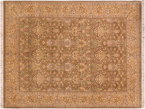 "A04259, 6' 2"" X  9' 0"",Traditional                   ,6' x 9',Green,LT. GOLD,Hand-knotted                  ,Pakistan   ,100% Wool  ,Rectangle  ,652671161797"