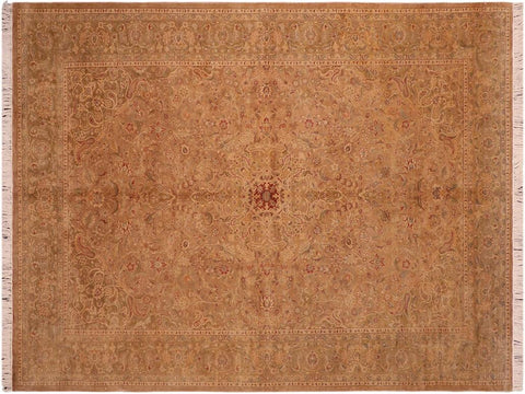 handmade Traditional Kasbeen Taupe Green Hand Knotted RECTANGLE 100% WOOL area rug 6 x 10