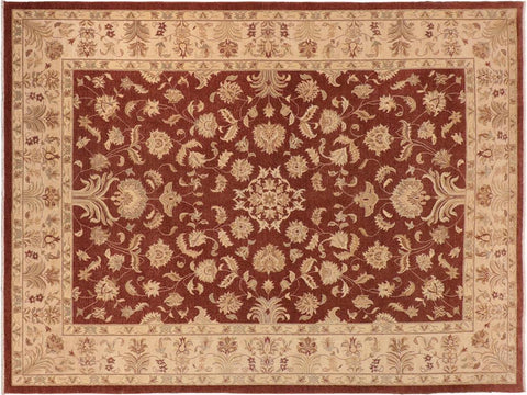 handmade Traditional Kafkaz Brown Tan Hand Knotted RECTANGLE 100% WOOL area rug 10' x 14'