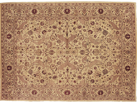 "A04328, 9' 1"" X 12' 0"",Transitional                  ,9' x 12',Tan,IVORY,Hand-knotted                  ,Pakistan   ,100% Wool  ,Rectangle  ,652671162473"