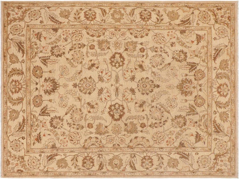 handmade Traditional Kafkaz Tan Brown Hand Knotted RECTANGLE 100% WOOL area rug 9 x 12