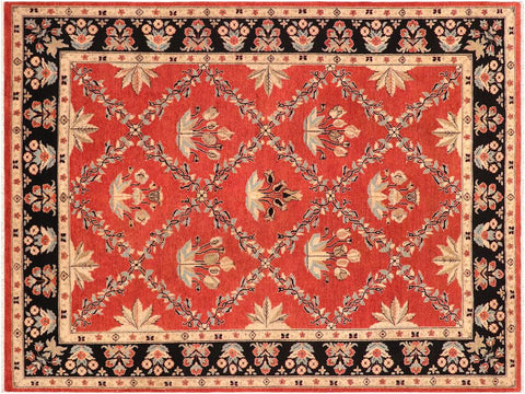 handmade Traditional Kafkaz Red Black Hand Knotted RECTANGLE 100% WOOL area rug 9 x 12