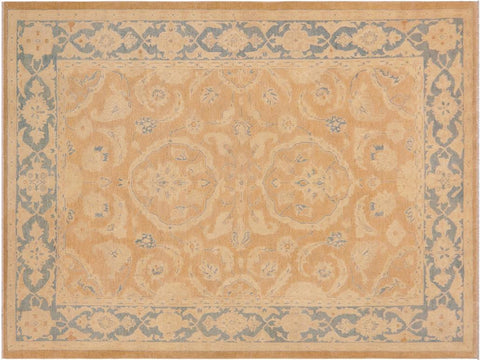handmade Traditional Kafkaz Brown Blue Hand Knotted RECTANGLE 100% WOOL area rug 9 x 12