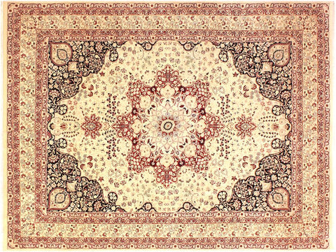 handmade Traditional Kirman Beige Red Hand Knotted RECTANGLE 100% WOOL area rug 9x12 Hand knotted indoor Pak Persian vegetable dyed area rug made for all rooms with high quality New Zealand wool in rich color pallet weaved by skilled artisans in traditional transitional design known for quality and affordable price. Oriental rug offered at cheap discount for any decor, with Persian weave(KPSI upto 300)